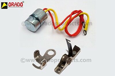 Stator Plate Contact Point & Condensor 6 volt For Vespa Vba Vbb