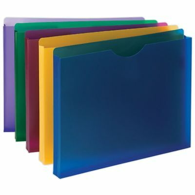 Smead® Poly Expanding File Jackets, Assorted Colors, Pack Of 10