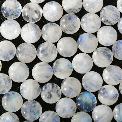 Wholesale Lot 6mm Round Cabochon Natural Moonstone Loose Calibrated Gemstone