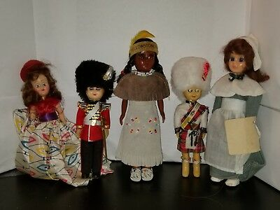 Mixed Lot Of 5 Vintage Dolls Carlson, Yellowstone park and others Lot 1