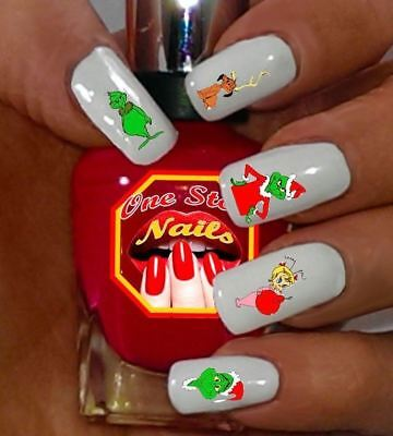 Grinch Who Stole Christmas Waterslide Nails Decals Set of 47 DG-001-47