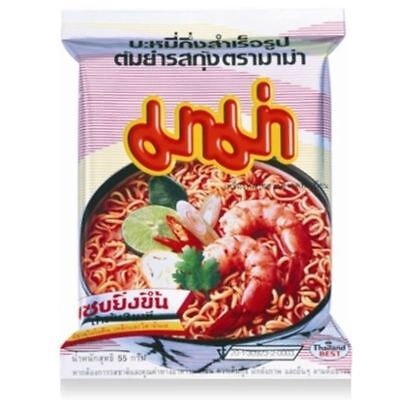 MAMA Thai instant noodle Tom yum kung favor (55g. x 6  Pieces)