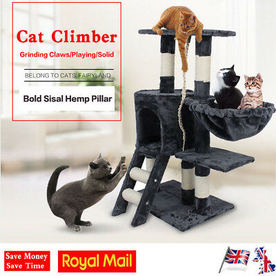 Big Cat Tree Scratching Post Activity Centre Bed Toy Scratcher Cat Diving Tower