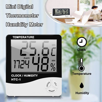 Digital LCD Thermometer Temperature Weather Hygrometer Humidity Moisture Indoor