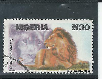 Nigeria - 1993 30N value Lion Definitive - Postally used