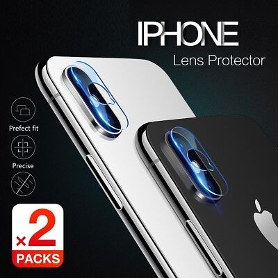 Apple iPhone X XS Max XR X 7 8 Plus Camera Lens Tempered Glass Screen Protector