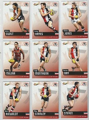 2014 Afl Select Champions St Kilda Saints Common Team Set All 12 Cards
