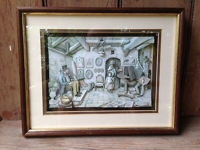 Anton Pieck Shadow Box 3D Photography Scene Framed Paper Tole Decoupage