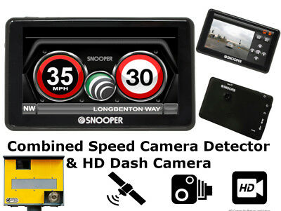 New Snooper My Speed DVR Speed Camera Detector  Dash Cam Gen 2 LCD Touch Screen