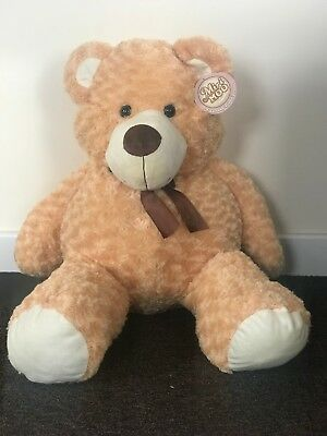 NEW Plush Super Soft Large Teddy Bear - Giant 80cm Cuddly Toy - Traditional Gift