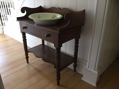 Late Victorian / Early 20th Century Wash Stand With Bowl