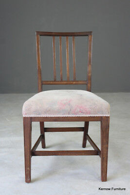 Antique Single Mahogany Sheraton Style Dining Chair