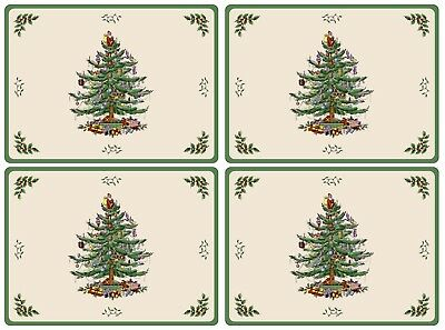 Pimpernel for Spode Christmas Tree Large Placemat Set of 4