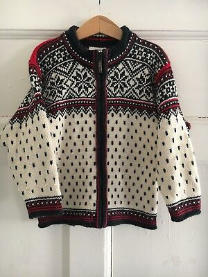 Vintage Dale Of Norway Jumper Fairisle Fisherman Chunky Knit Pure Wool