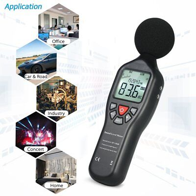 Digital Sound Level Decibel Meter 30-130dB Pressure Tester USB Noise LOT @F