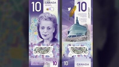 NEW Canada $10 Dollars Banknote Billet Bill Vertical Viola Desmond 2018 UNC!!!!