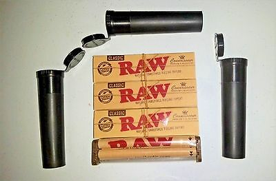 3 Raw Connoisseur CLASSIC PreRolled Tips King Sz 3 Doob Tubes 110mm blunt Roller
