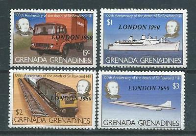 "Grenadines SG392-395 1980 ""London '80"" Unhinged Mint"