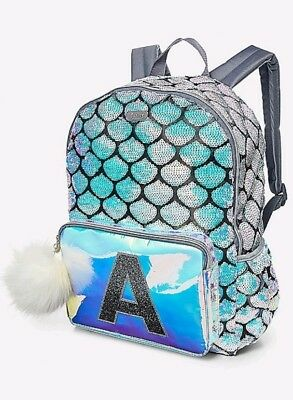Justice Mermaid Initial A Backpack