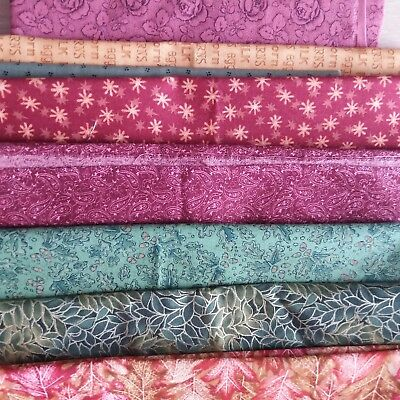 8 pieces of gorgeous cotton fabric, perfect for the patchworker