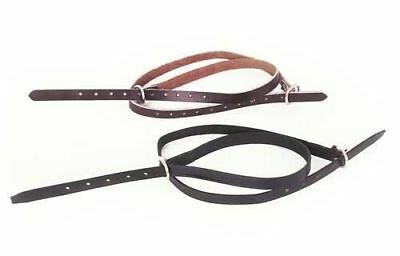 """Leather Windsor Spur Straps 4/8""""x19"""" Black Or Brown FREE P&P"""