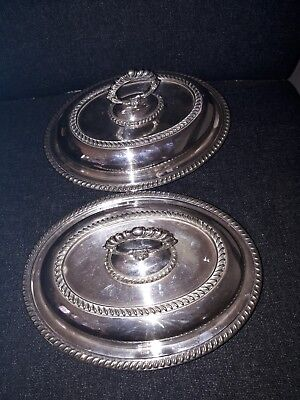 Superb Pair Of Fine Quality Antique Silver Plated Epns Buffet Serving Dishes