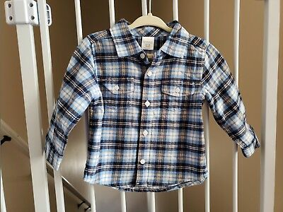 Gymboree Plaid Shirt Baby Boys 12-18 months New With Tags