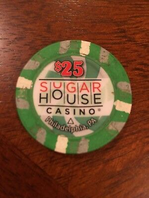 $25 ( 1st series) GAMING CHIP FROM THE SUGARHOUSE CASINO PHILADELPHIA PA