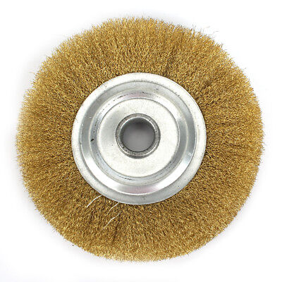 5inch Pure Copper Wire Wheel Brass Brush For Bench Grinder Metal Polishing
