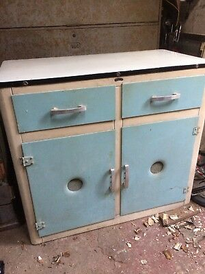Vintage aluminium kitchen cabinet unit SHEER PRIDE retro enamel top