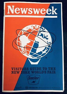 NEW YORK WORLDS FAIR 64-65 SINCLAIR GASOLINE Newsweek- rare MENS VISITORS GUIDE