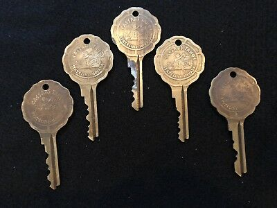 Vintage Caesars Palace Stateline Nevada Hotel Room Lot Of 5 Keys Tahoe Casino #3