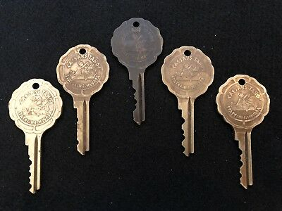Vintage Caesars Palace Stateline Nevada Hotel Room Lot Of 5 Keys Tahoe Casino #5