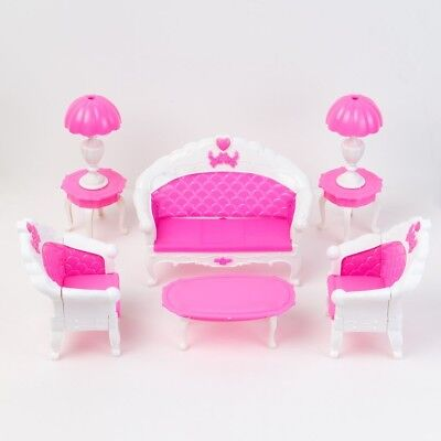 E-TING Mini Dollhouse Furniture Living Room Set Table and Chair for Barbie Dolls
