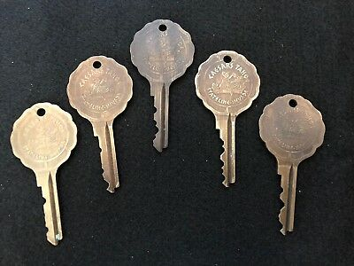 Vintage Caesars Palace Stateline Nevada Hotel Room Lot Of 5 Keys Tahoe Casino #7