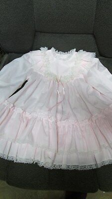 Pink With Double Ruffle Hem - Baby Girls' Dress - Vintage Bryan - Size 3T