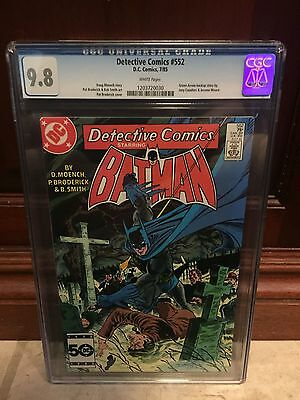 Detective Comics #552 Cgc 9.8 Nm/mt ~ Green Arrow Backup Story ~ White Pages