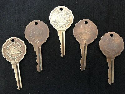 Vintage Caesars Palace Stateline Nevada Hotel Room 5 Key Lot Tahoe Casino #10