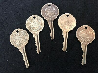 Vintage Caesars Palace Stateline Nevada Hotel Room 5 Key Lot Tahoe Casino #13