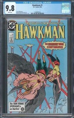 """Hawkman (1986) #1 Cgc 9.8 Nm/mt ~ """"shadow War"""" ~ Hawkgirl Cover ~ White Pages"""