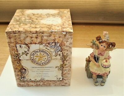 1996 Boyds Wee Folkstones Birthday Angel with Original Box..Angels In Training