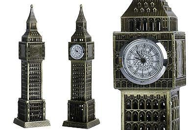 London Big Ben Clock Tower Showpiece with Watch Collectible Antique Showpiece 7""