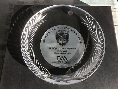 Tyrone Crystal Armagh Minors GAA All Ireland Champions Engraved Plate 2009
