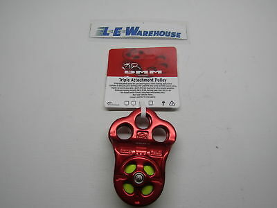 """Dmm Hitch Climber Triple Attachment Pulley - 1/2"""" Rope - Red"""