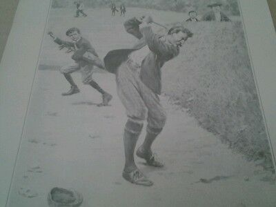 """Antique Print By A.b. Frost  """" Temper"""", Golf Theme"""