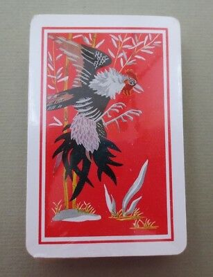 Vintage KEM Playing Cards Art Deco Rooster Cock Sealed with Tax Stamp