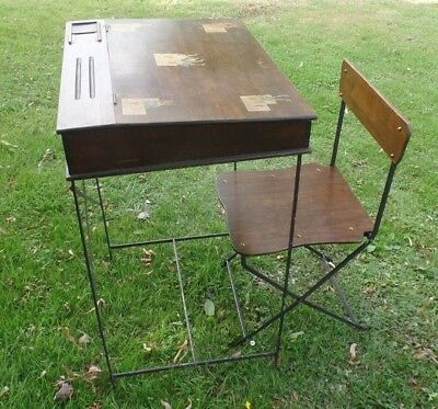 Vintage childs desk and chair