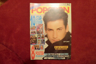 POPCORN Nr 2 1987 Kimm Wilde Joey Tempest Frankie goes to Hollywood Bangles A-HA