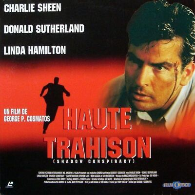 HAUTE TRAHISON WS VF PAL LASERDISC Charlie Sheen, Donald Sutherland