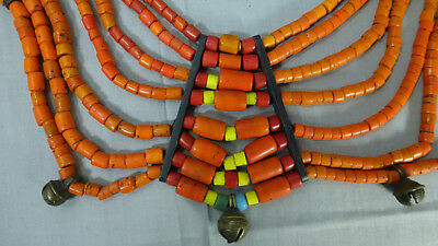 Authentic Antique Naga Tribal Glass Bead Necklace